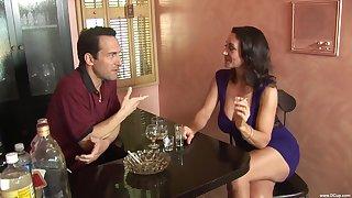 Busty brunette Persia Monir opens her legs for nice lovemaking