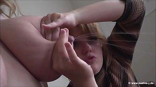 Milking Giant Lesbian boobs - euro lactation fetish