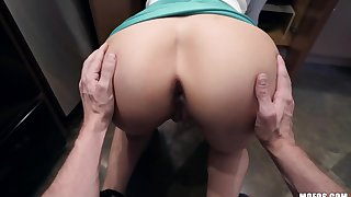 Fuckless step mommy Lexi Luna seduces stepson and sucks his cock in the kitchen