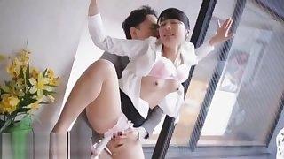 Japanese wife cheats husband with rude boss