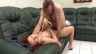 Big Boobed Caregiver Fucked By One-legged Man