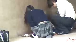Dark haired, Chinese pupil is getting humped in a release place, in the middle be advisable for the show one's age