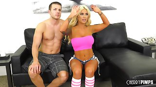 Sporty order about blonde MILF Brandi Bae loves to get fucked hard