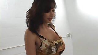 Sated Latina Hottie Pleasures Multiple Big Cocks