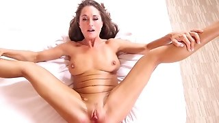 Lengthy haired 40 yo cougar gets assfuck nailed to real pulsing climax freesex
