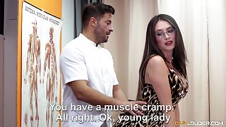 All lubed charming nympho Estrellita turns knead into cock riding workout