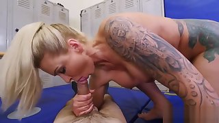 Erotic brunette step mom Dominant MILF Gets A Creampie After Anal Sex