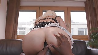 Milf with fine curves, nuisance fucked by a unconscionable guy