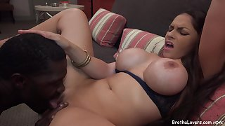 ebony lover comestibles will not hear of MILF's muff