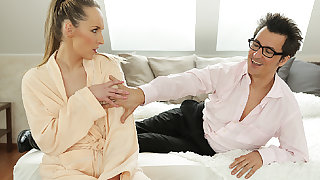 DADDY4K. Guy can't take upon oneself modest babe has copulation act with...