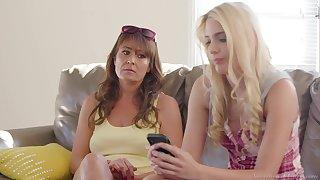 Horny MILF lesbian pornstars Elexis Monroe and Kenna James