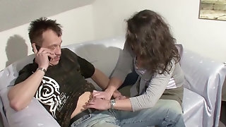 Mummy with wagging bra-stuffers oral jobs hefty spunk-pump gets ravaged pornvideo