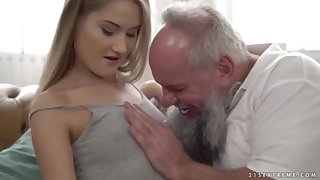 Nubile ultra-cutie vs patriarch grandfather - Tiffany Tatum with an increment of Albert