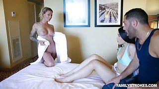 Australian hottie Isabelle Deltore shares a big dick with her nasty girlfriend