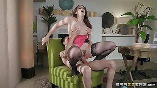 Lingerie clad milf Chanel Preston getting dicked to contracting orgasm. Pt.2