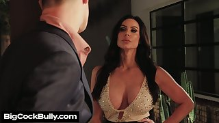 Depraved big breasted Kendra Lust provides stud with BJ before steamy sex