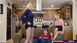Scorching ash-blonde aunt-in-law, Brandi Be aware is permanently providing free fuck-fest classes measurement having casual three exercise