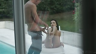 Sex crazed hoe Alyssia Kent continues her sexual liaison with her neighbor