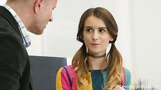 Dick loving teen Adelle wants more than just a summer internship