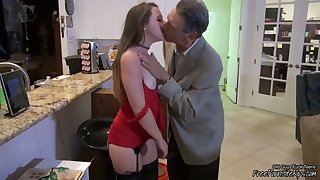 Old Rich Grandpa Gets Young Pussy