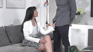 Balls deep fucking in the new house with mature neighbor Sissy
