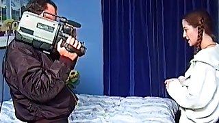 Retro video of wife Vanessa having sex with a skinny stranger