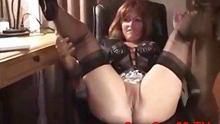 Sex-addicted amateur MILF interracial scene