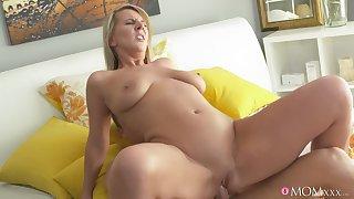 Slutty girlfriend Luci Angel sucks her boyfriend's dick and rides him