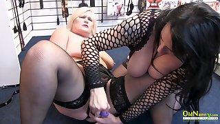 OldNannY Big Natural Lesbian Tits of Lacey Starr
